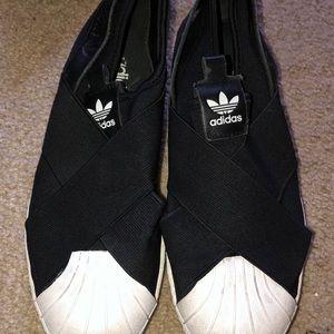 adidas original superstar slip ons!